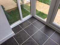 Grey Porcelain Floor Tiles, Brand New, 8m2, Loads of Offcuts