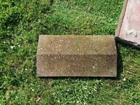 Large Concrete Weathered Coping Stones
