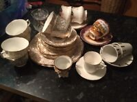 Vintage china selection