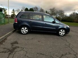*LOW MILES 2007 VAUXHALL ZAFIRA 1.9 CDTI 6 SPEED DIESEL 7 SEATS, FSH, LOW MILES, PRIVACY WINDOWS