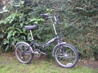 challenge flex folding bike,6 speed,runs well
