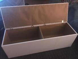 Long storage chest / toy box / ottoman
