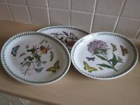 Portmeirion tea set and dinner plates