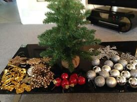 Christmas tree and decorations