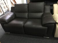 New/ Ex Display Reid Apsley Brown Leather 2 Seater Sofa