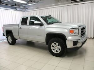 2015 GMC Sierra SLE 4X4 4DR WITH LEVELING KIT, TONNEAU COVER, PO