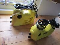 2 X Karcher K2 Pressure Washers -running, but with leaks