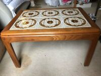 Vintage Retro G Plan Rectangle Teak Coffee Table with Tile Top