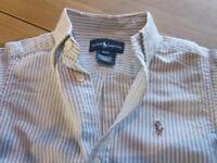 Ralph Lauren boys denim / striped shirt