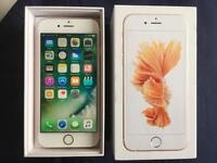 iPhone 6S Unlocked 64GB Rose Gold Excellent condition boxed