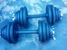 dumbbell bars 2 x 12.5 kg
