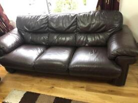 Used leather sofa for sale 3 seater + 2 seater