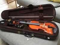 3/4 size Stentor Violin with case and chin rest