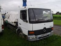 Mercedes Atego 7.5 ton tilt and slide spec lift hiab double extension recovery project