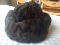 Ladies Marks & Spencer Brown Faux Fur Hat (NEW)