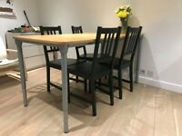 4 black chairs - STEFAN, IKEA