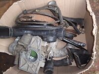 ford capri 1.6 carburetermanifold airfilter, also clutch also.pinto 1.6 engine