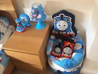 Thomas the tank bedroom lamp torch clock bean bag bedding toybox