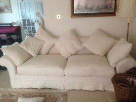 Large comfortable sofa will seat 4