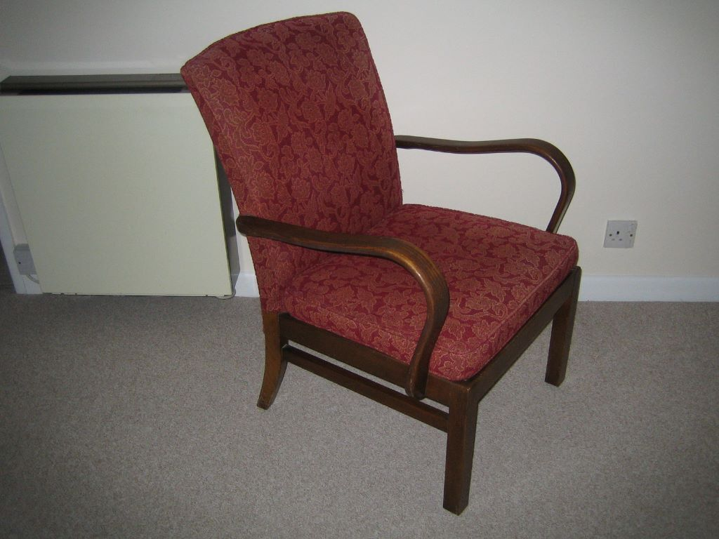 Vintage Retro Parker Knoll Bent Wood Fireside Arm Chair