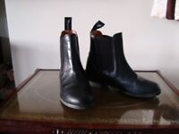 Pair black Toggi jodhpur boots size 13