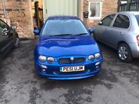 MG ZR 1.8 160 In Blue 101000 miles Full Mot Would make a Perfect Rally Race Car Build