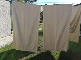 Two sets of Cream Floor Length Curtains - £15