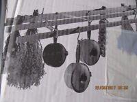 Victorian style clothes dryer/ saucepan storage