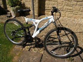 "reflex viper dual suspension 26"" wheel mens bike"