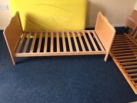 Cotbed with Mattress and drawer & Bedding