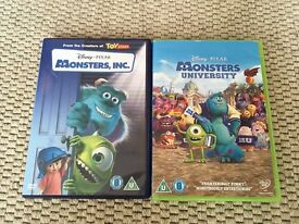 Disney monster inc & monster university dvds