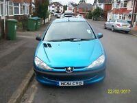 Peugot 206 1360cc 5 Door Hatchback in blue.