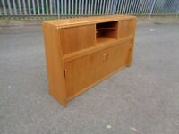 Cool Retro Oak 1950's Era G Plan Brandon Narrow Storage Cabinet Headboard