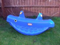 Little Tikes Whale Teeter Totter Blue Children Seesaw Kids Toy