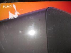 Sonos PLAY:5 Wireless Speaker. Gen 2. Uses Wifi. Aux Audio. 3 Woofer. Rich Deep Bass Music. NEW