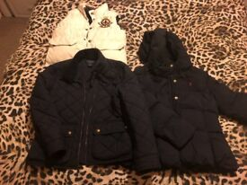 Girls Ralph Lauren jackets and reversible body warmer