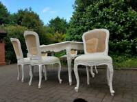 SHABBY CHIC ITALIAN DINING TABLE AND 6 CHAIRS