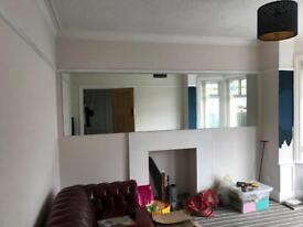Large mirror - 320 x 90cm. Good for gym/dance studio.
