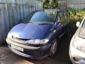 2002 Renault Espace Authentique Estate Petrol 2L Blue BREAKING FOR SPARES
