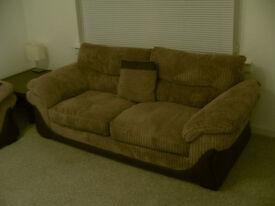 3 Seater Fabric Sofa. £150