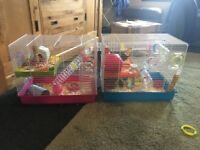 Hamster cages for sale x2 Ferplast Laura (added bits and pieces)
