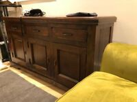 Heavy wood Sideboard colonial style
