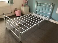 Next - Metal Single Bed Frame with IKEA Sultan Matress