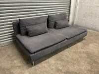FREE DELIVERY IKEA SODERHAMN CHARCOAL GREY 2 SEATER SOFA GOOD CONDITION