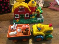 Farm tractor & barn musical toys