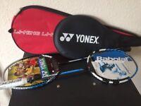 2 Badminton racquets from Borneo, case and birdies
