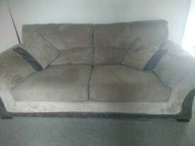 3 and 2 seater sofas and storage footstool