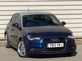 2012 AUDI A1 1.4 TFSI S LINE 5DR AUTO/S TRONIC** HUGE SPEC** SAT NAV XENONS automatic petrol a3 polo