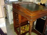 Davenport Desk with leather feture