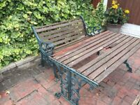 Heavy Cast Iron Garden Furniture Patio Set